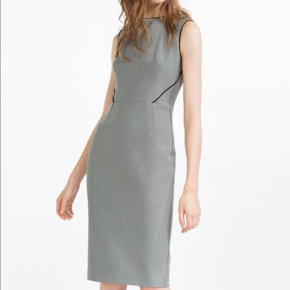 a16adee7 ZARA Grey Tailored Sheath Dress Size Small. M_5b9aeb9f4ab633cf1bd1e145